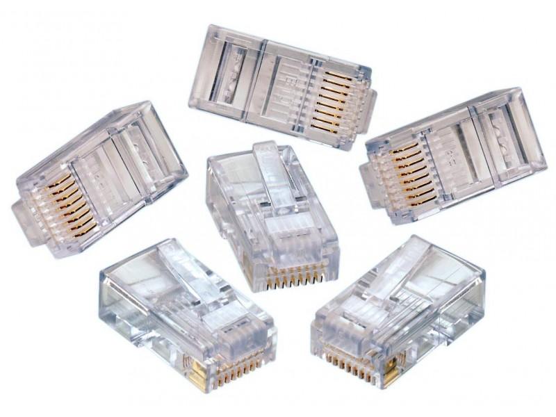rj45 modular connector stranded 15 connectors silicon pk. Black Bedroom Furniture Sets. Home Design Ideas