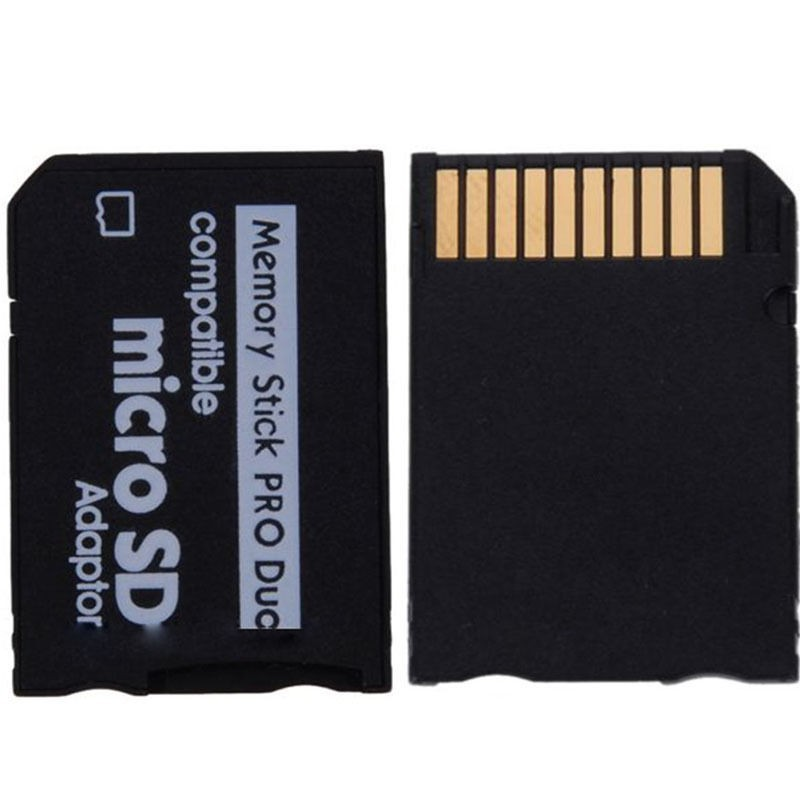 micro sd to memory stick ms pro duo adapter card silicon pk