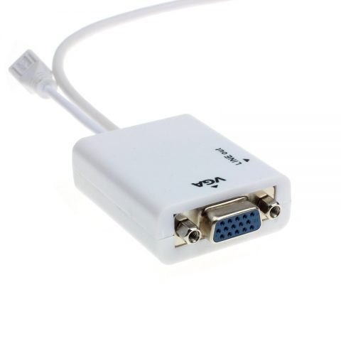 Micro USB To VGA Audio MHL Adapter For Samsung Galaxy S3 S4 S5 Note 3