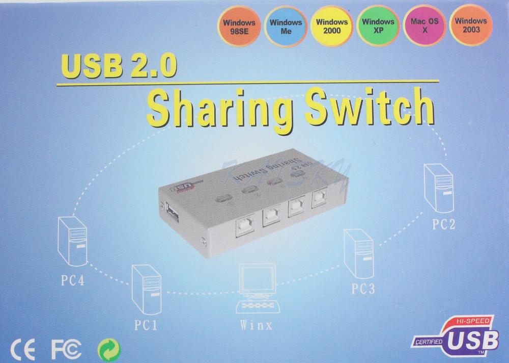 4 Port USB Printer Sharing Switch 3