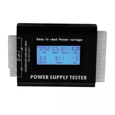 Computer 2024 Pin Power Supply Tester With PSU ATX SATA HDD Connectors