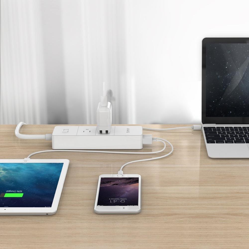 ORICO IPC-2A4U Desktop Surge Protector & 4 USB Charger
