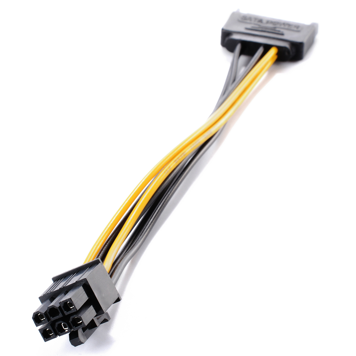 Power Cable Connectors : Pin sata to pci e express video card power