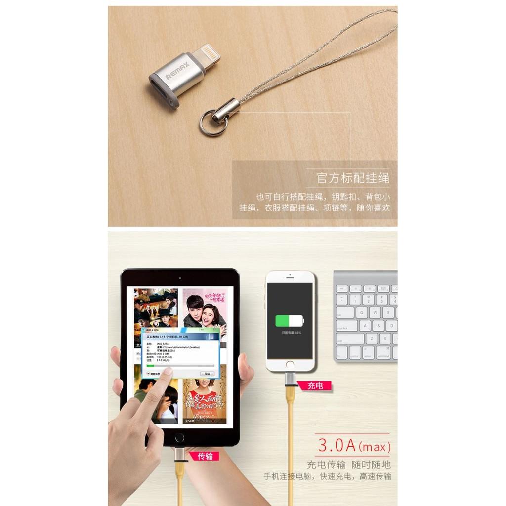 Remax Ra Usb2 Micro Usb To Lightning Apple Ios Converter Gold V8 Adapter