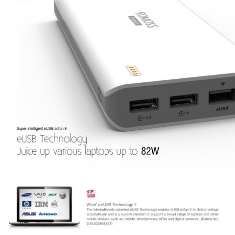Romoss® eUSB Sofun 9 23400 mAh Power Bank