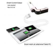 Bluetooth Car Hands-Free Modulator with Aux TF USB Port and Charger (1)
