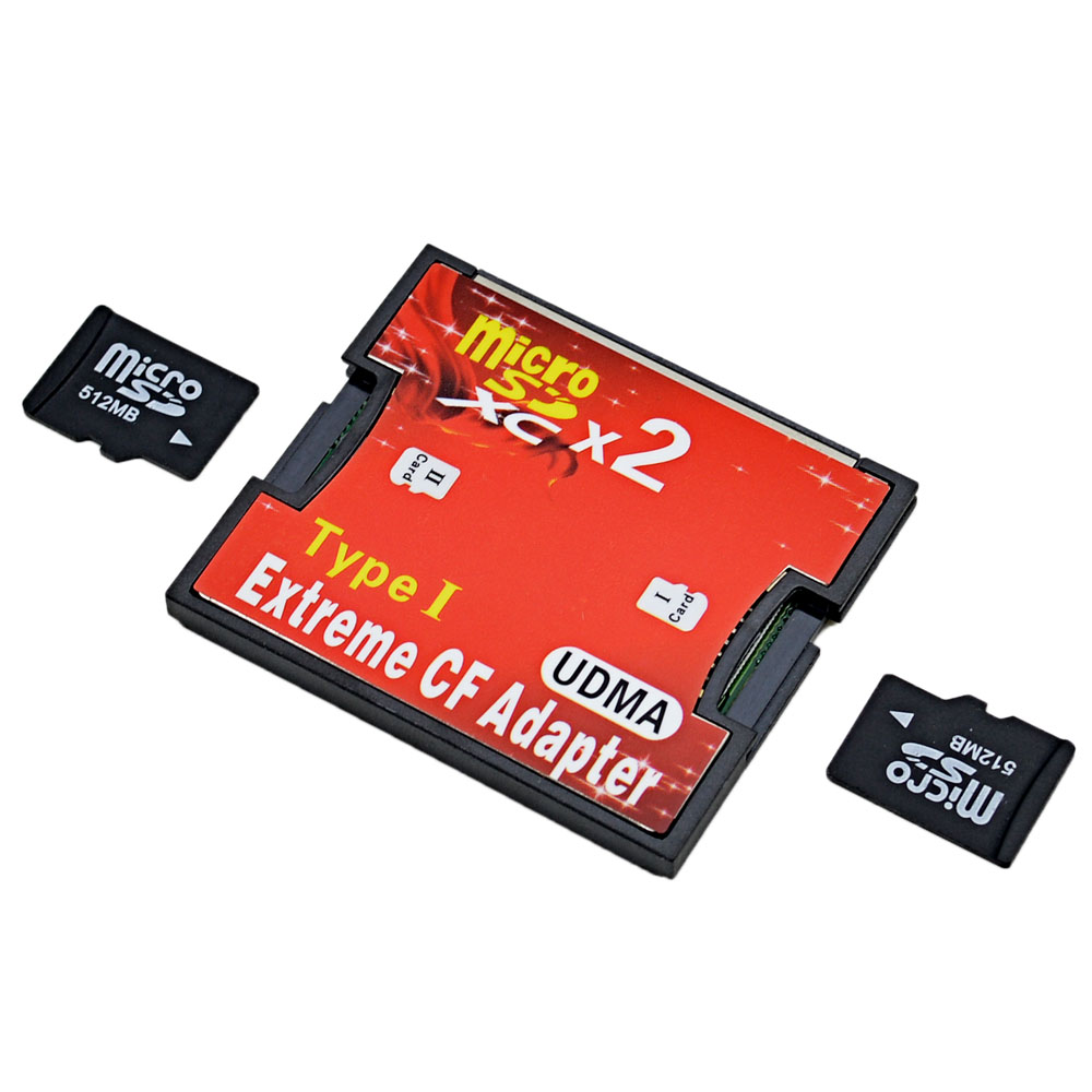 Dual Port Micro Sd To Compact Flash Adapter Silicon Pk