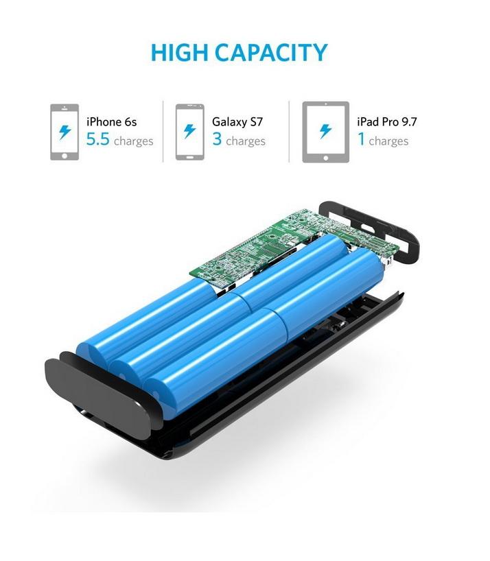 Anker Astro E5 - Ultra-High Capacity Power Bank - 16000mAh - Black
