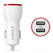 Anker PowerDrive 2 Car Charger 24 Watt 4.8A - White