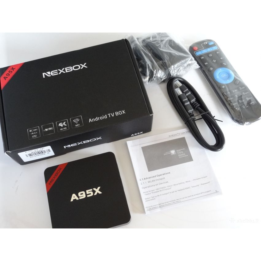 Android Smart Tv Box Nexbox A95x 2.0ghz Quad Core 1g+8g Android 6.0