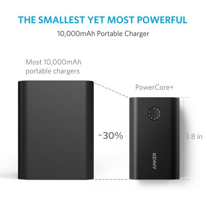 Anker Anker PowerCore+ 10050 Qualcomm Quick Charge Power Bank - Black