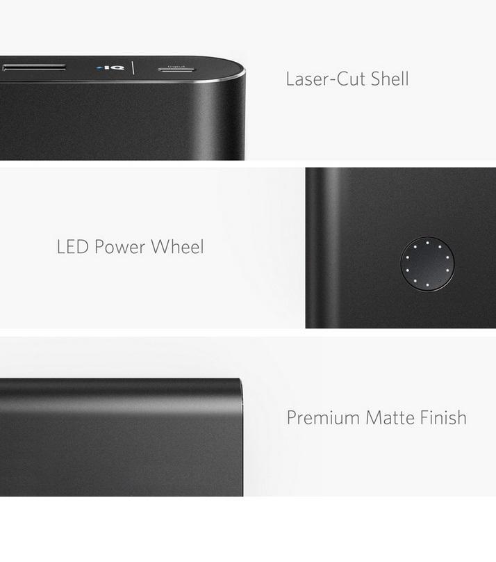 Anker PowerCore+ - Quick Charge 3.0 Qualcomm Powerbank - 13400mAh - Black