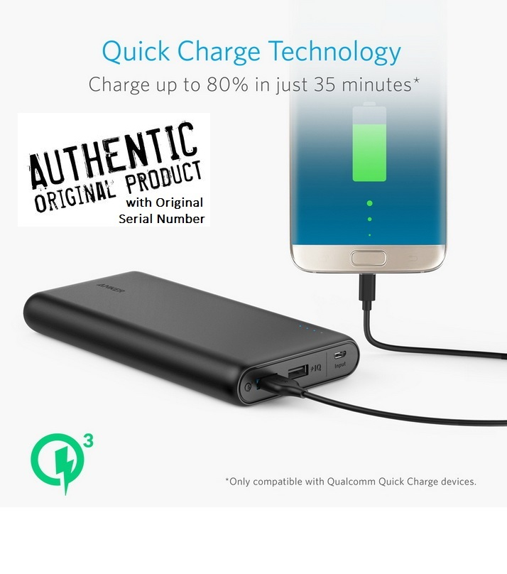 Anker PowerCore Speed Quick Charge Qualcomm 3.0 Powerbank