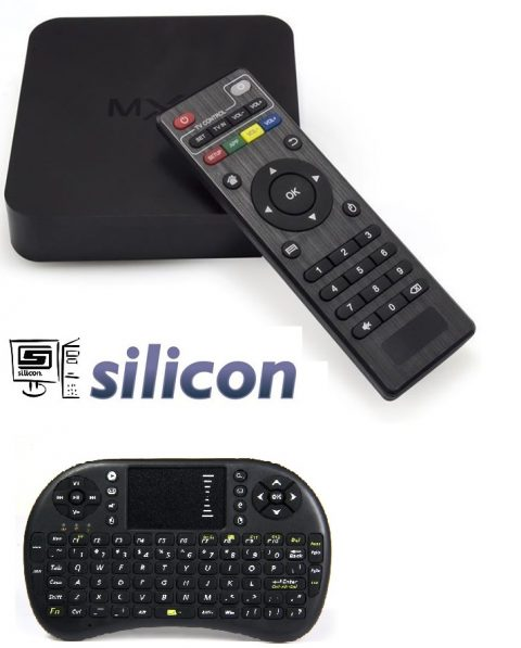 Silicon Android Smart TV Box Quad Core - 1G+8G MXQ 4k With MiniTouch Keyboard