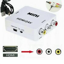 Silicon HDMI to AV Converter With USB Charger Cable - White