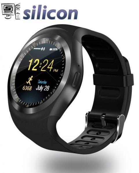Y1 Round Dial Smart Watch Black Price in Pakistan