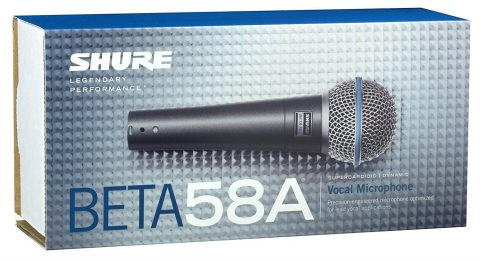 Shure BETA 58A Dynamic Wired XLR Professional Microphone (1)