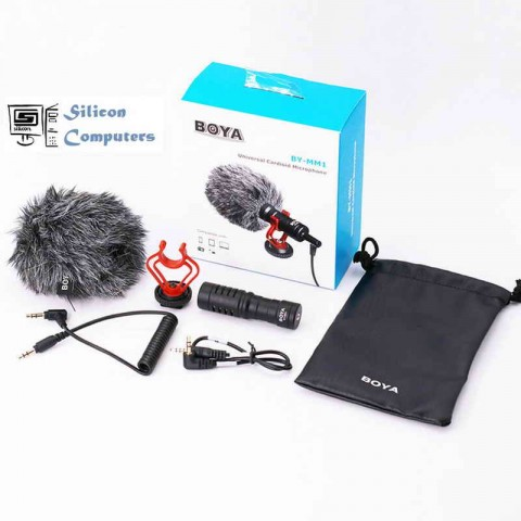 BOYA BY-MM1 Universal Cardioid On-Camera Video Microphone for DLSR Camera for iPhone Smartphones in Pakistan
