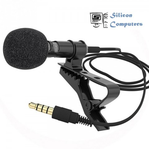 Clip-on Collar Tie Mobile Phone Lavalier Microphone Mic for ios Android Cell Phone