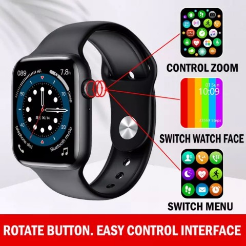 IWO W26 Plus Smart Watch WaterproofInfinity DisplayCallingBLACK