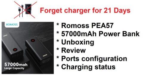 Romoss PEA57 57000mAh Power Bank